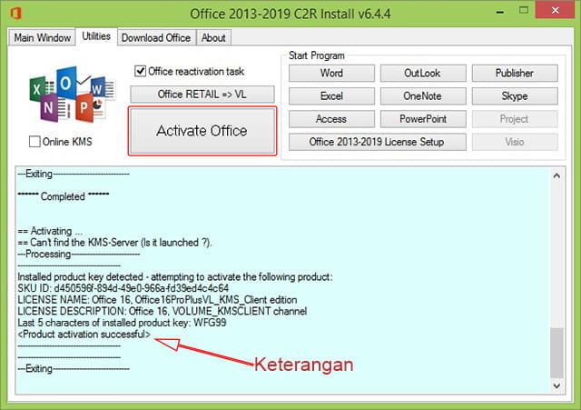 Cara Aktivasi Office 2016 Secara Permanen Tanpa Product ...